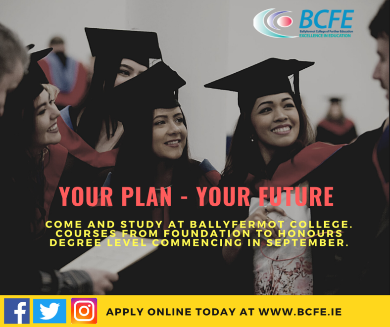Speak with the Ballyfermot College team about their courses this spring.